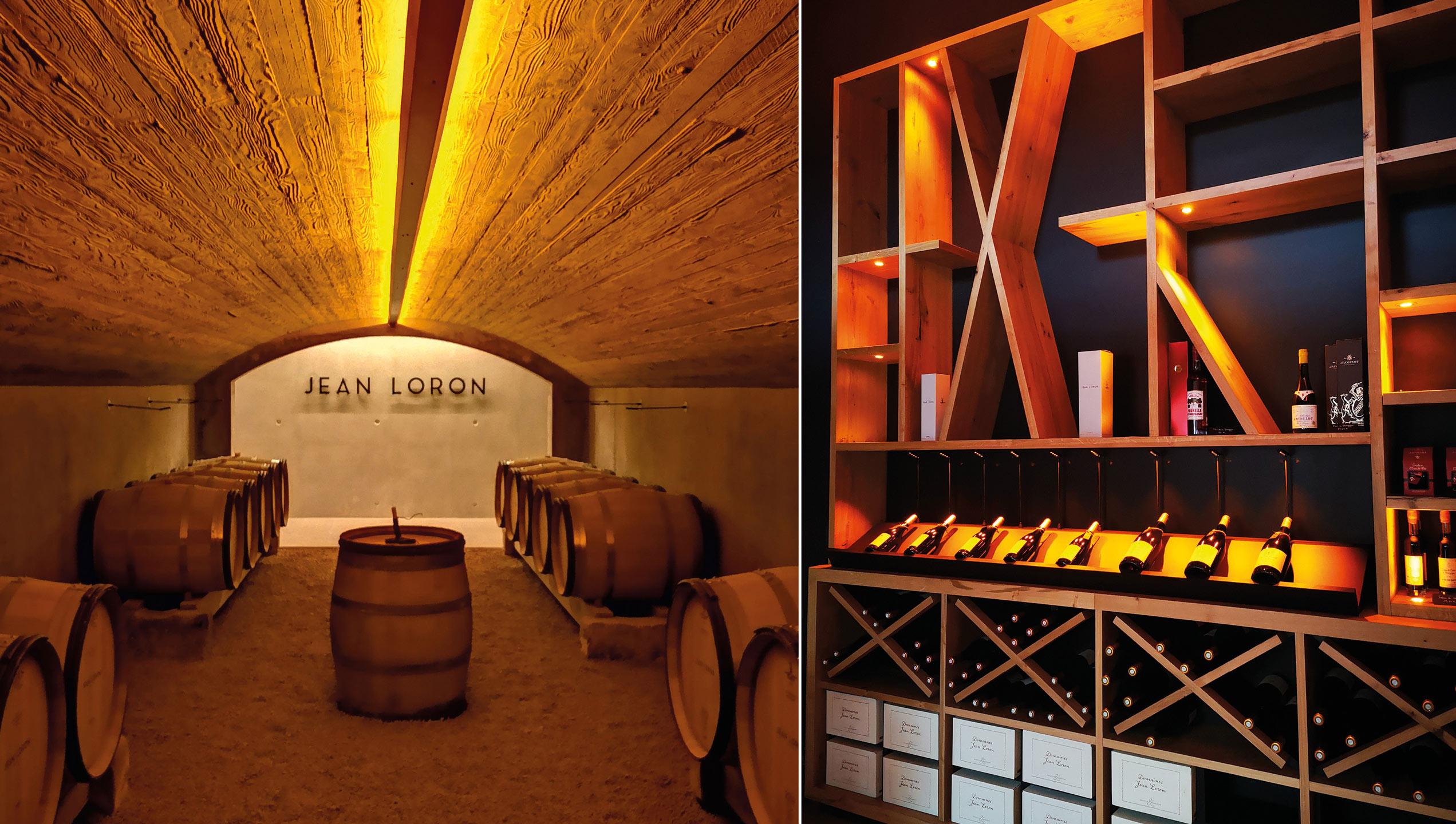 éclairage cave jean Loron