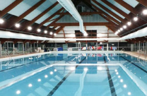 éclairage LED piscine municipale du Chesnay